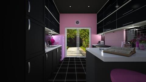 pink n black - Modern - Kitchen - by donella