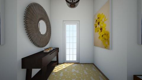 Blue and yellow - Modern - Living room - by Katiemichellegilbert