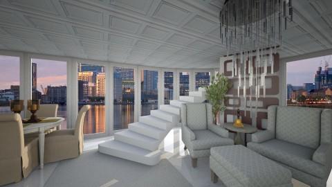 Canary Wharf Penthouse - Glamour - Living room - by Bianca Biffa Hart