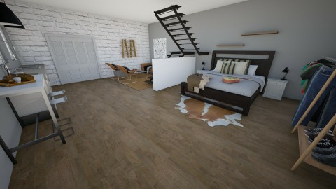 Walters loft - Modern - Bedroom - by kennyhollis99