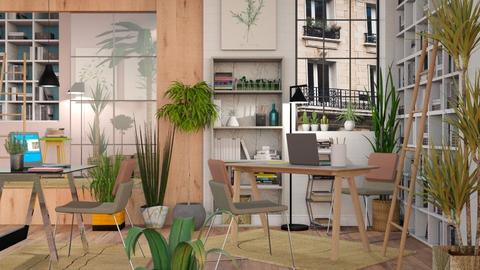 Urban Jungle Office - Eclectic - Office - by Sally Simpson