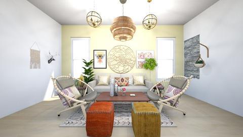 Bohemian Paradise - Living room - by Tahsina Islam