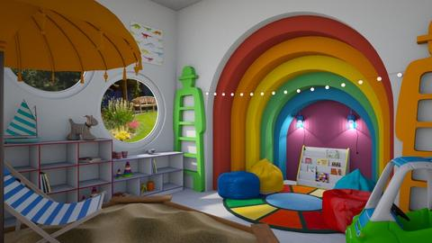 rainbow corner - Retro - Kids room - by donella