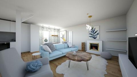 scandinavian living room - by annsal