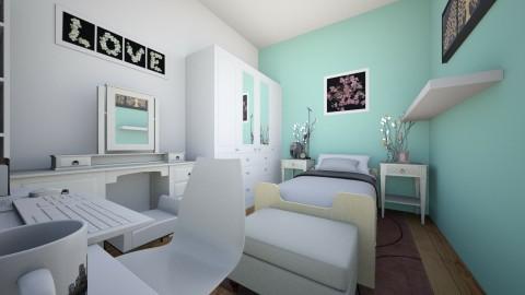 Habitacion y Oficina - Modern - Bedroom - by Brenda Paucar