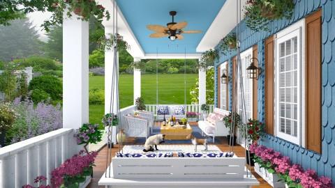 Victorian Porch - Garden - by lydiaenderlebell