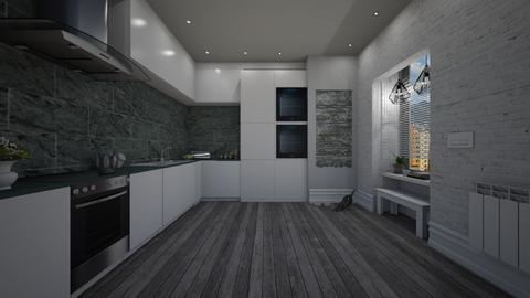 kitchen for two - Modern - Kitchen - by patriicia popa