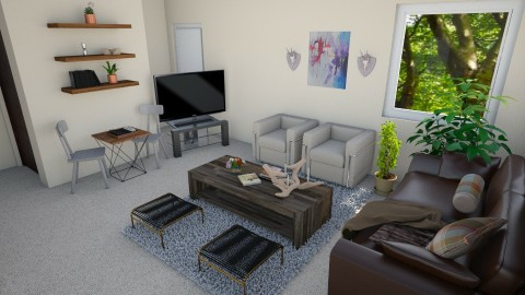 livingroom - Rustic - Living room - by lyzzystardust