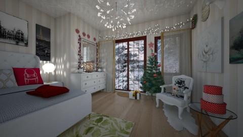xmas bedroom - Bedroom - by Tara T