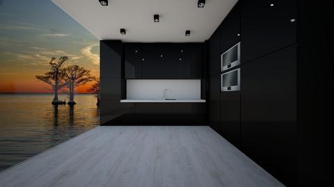 Black kitchen_Home 1 - Modern - Kitchen - by Itsjustme1