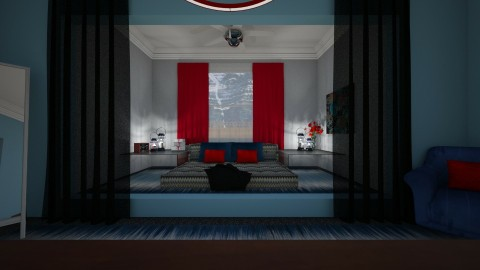 Red And Blue - Bedroom - by MasterDarkstone