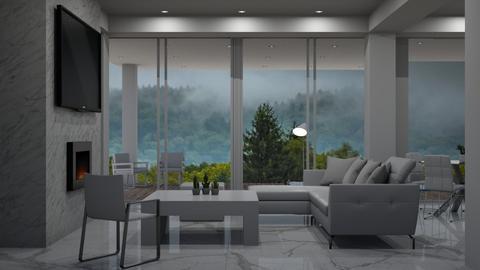 white  - Modern - Living room - by Dayanna Vazquez Sanchez