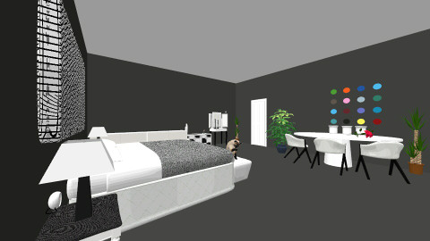 black and white - Modern - Bedroom - by denisednx