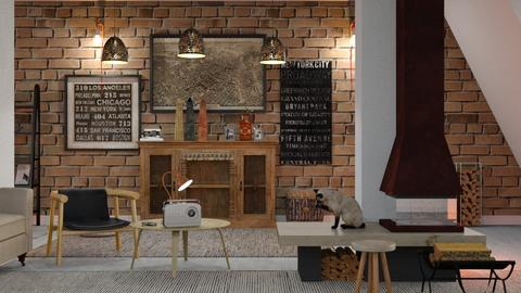Warm_Place - Living room - by ZuzanaDesign