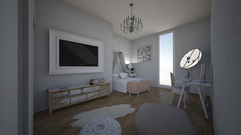 bedroom - Glamour - Bedroom - by polakucharska