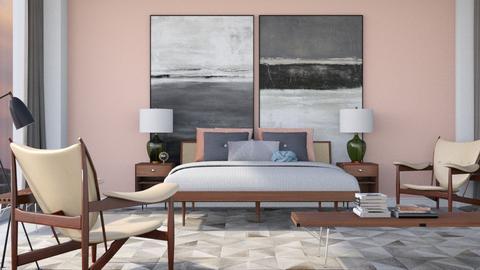 Mid Century Bedroom  - Bedroom - by HenkRetro1960