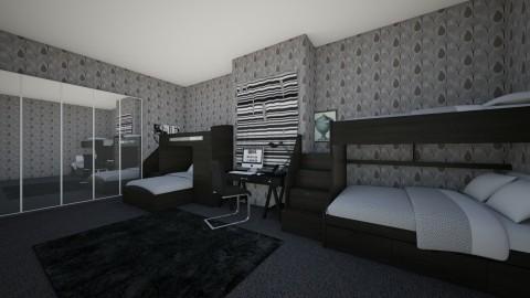 emo triplets share room - Modern - Kids room - by BlacBree