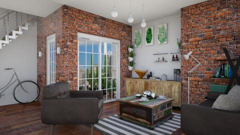 Bricks and glasses - Modern - Living room - by monicamonica