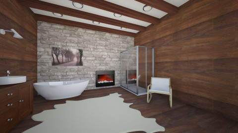Chalet Bathroom 2 - Rustic - Bathroom - by Andersen69
