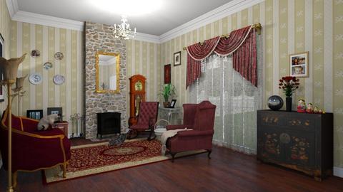 Cat Grandma Living Room - Vintage - Living room - by zizzy