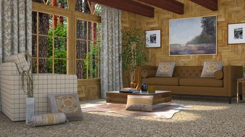 Redwood Living - Rustic - Living room - by millerfam