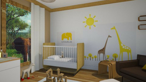 safari nursery - Kids room - by miadesign