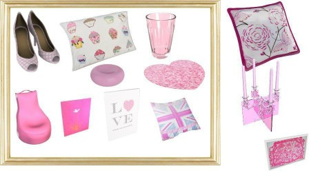 Pink Moodboard - by createit