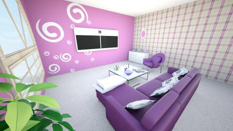 Purple heaven2 - Modern - Living room - by Teti