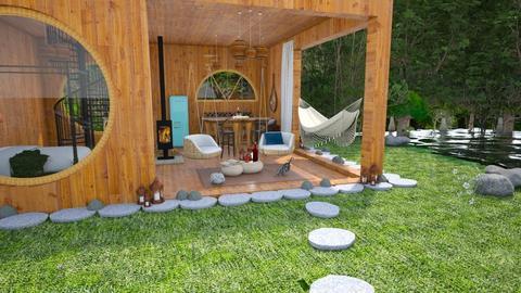 Bamboo jungle 3 - Living room - by petya_zafirova