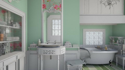 Shabby Mint - Bathroom - by Elaenerys