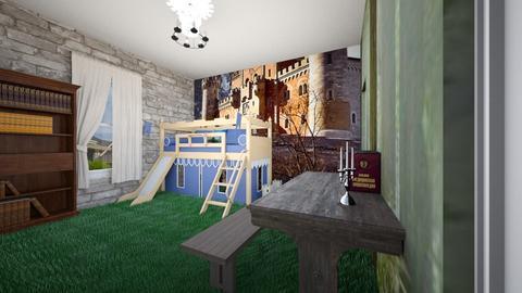 Knight Themed Bedroom - Kids room - by SammyJPili