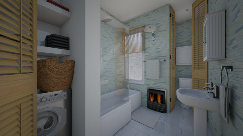 Village Apt Plan B1 - Bathroom - by russ