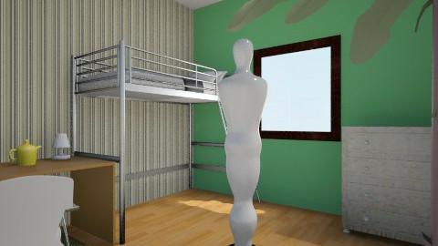 bedroom - Retro - Kids room - by Kobefe