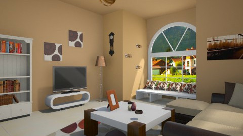 livi room - Classic - Living room - by Sotiria Oups