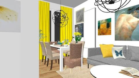 Yellow - Eclectic - Living room - by elica676