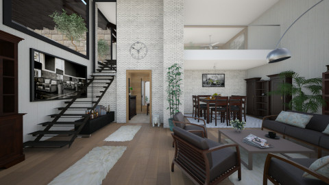 M_BL - Living room - by milyca8
