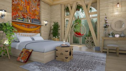 natural bohemian  - Bedroom - by Ida Dzanovic