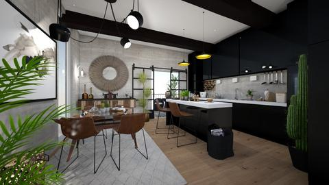 Move in with me - Masculine - Kitchen - by sweet home alibama