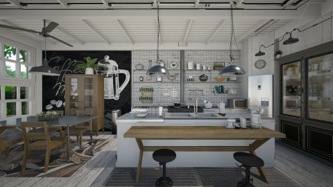 industrial farmhouse - Eclectic - Kitchen - by starsector