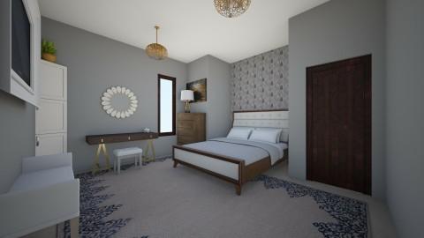 grey bedroom - Bedroom - by chloebear