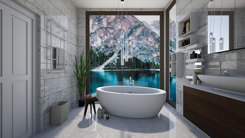 blue - Bathroom - by Senlisa