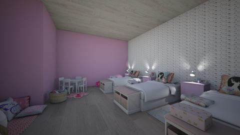 Triplets - Feminine - Kids room - by lilroomstyler
