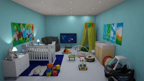 blue - Modern - Kids room - by kellynazha