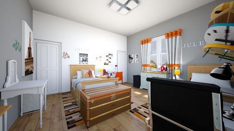 Fraternal Twins Bdr Neutr - Bedroom - by SammyJPili