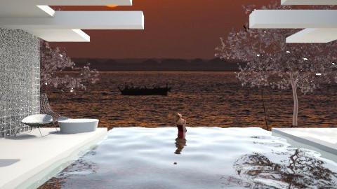 Sunset Villa - Modern - Garden - by SariJo