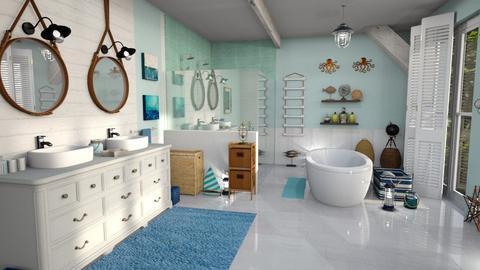 Sailing blue - Bathroom - by Moonpearl