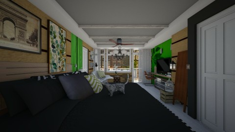 blend of styles - Rustic - Bedroom - by sometimes i am here