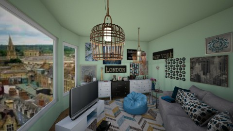 artistic living room  - by littlemary123