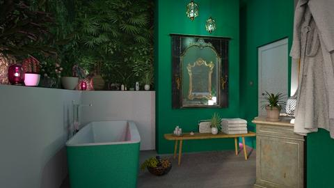 Jungle Bathroom - by jasmin_jasmin