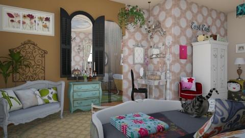 confidences sur loreiller - Vintage - Bedroom - by Teri Dawn